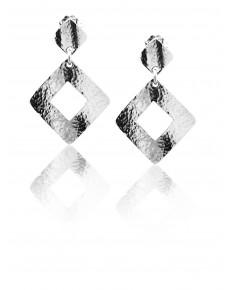 Orecchini pendenti in Argento  a perno e vitina